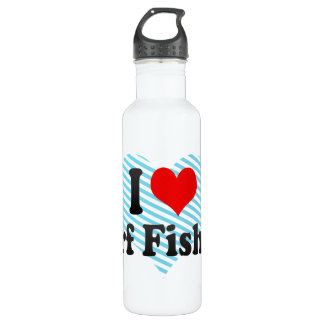 I love Surf Fishing Stainless Steel Water Bottle