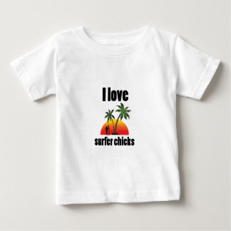 i love surfer chicks baby T-Shirt