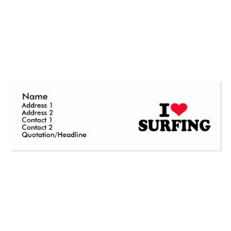 I love Surfing Business Cards