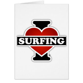 I Love Surfing Card