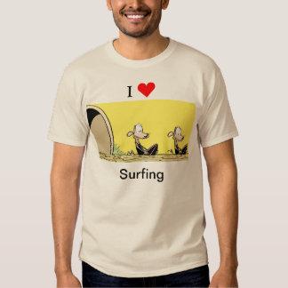 I Love Surfing Cartoon Shirt