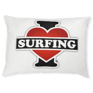 I Love Surfing Dog Bed