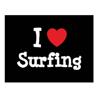 I love Surfing heart custom personalized Postcard