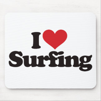 I Love Surfing Mouse Pad