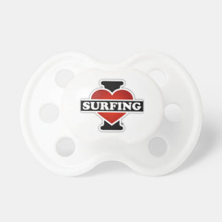 I Love Surfing Pacifier