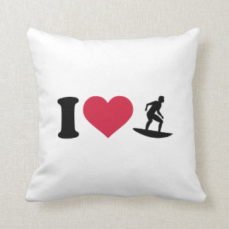 I love Surfing Pillow