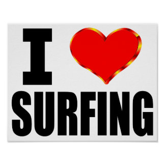 I Love Surfing Poster