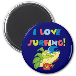 I Love Surfing T shirts and Gifts Refrigerator Magnets