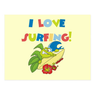 I Love Surfing T shirts and Gifts Postcard