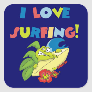 I Love Surfing T shirts and Gifts Stickers