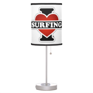 I Love Surfing Table Lamp