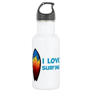 I Love Surfing Water Bottle