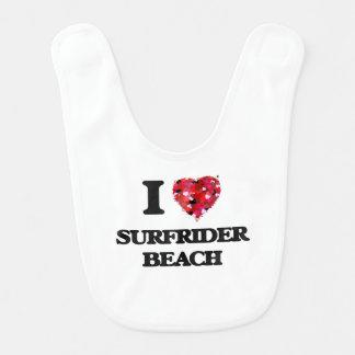 I love Surfrider Beach California Baby Bibs