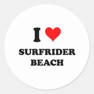 I Love Surfrider Beach California Classic Round Sticker