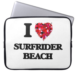 I love Surfrider Beach California Laptop Computer Sleeves