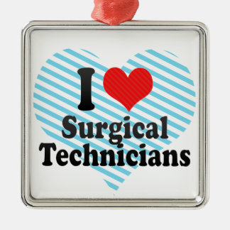 I Love Surgical Technicians Christmas Tree Ornament