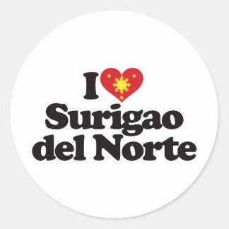 I Love Surigao del Norte Classic Round Sticker