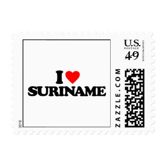 I LOVE SURINAME STAMPS