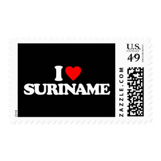 I LOVE SURINAME POSTAGE STAMPS