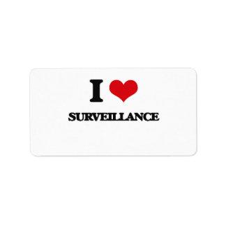 I love Surveillance Address Label
