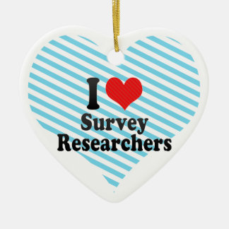 I Love Survey Researchers Christmas Tree Ornament