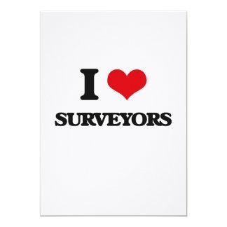 "I love Surveyors 5"" X 7"" Invitation Card"
