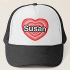 I love Susan. I love you Susan. Heart Trucker Hat