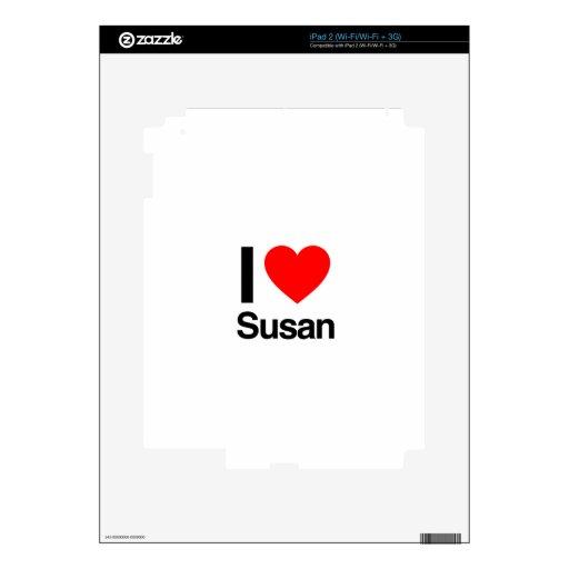 i love susan iPad 2 decal