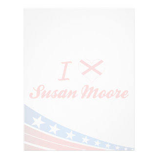 I Love Susan Moore, Alabama Customized Letterhead