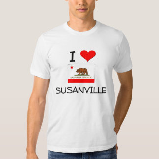 I Love SUSANVILLE California Tee Shirts