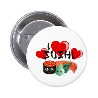 I Love Sushi Pinback Buttons