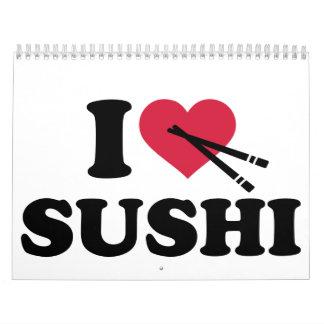 I love Sushi Wall Calendar