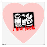 I Love Sushi Heart Room Decals