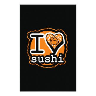 I love sushi Japanese food gastronomy Stationery