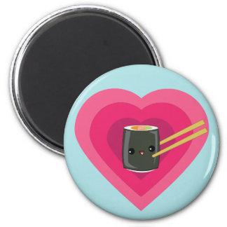 I Love Sushi Kawaii Sushi Roll magnet