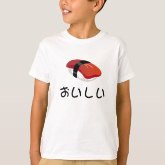 I Love Sushi Kid's T Shirts
