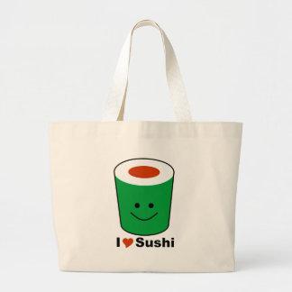 I Love Sushi Large Tote Bag