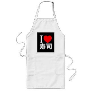 I love sushi long apron