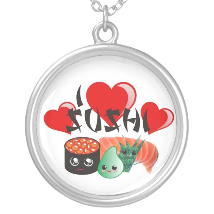 I Love Sushi Necklace