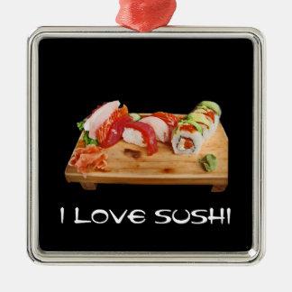 I Love Sushi Christmas Tree Ornaments
