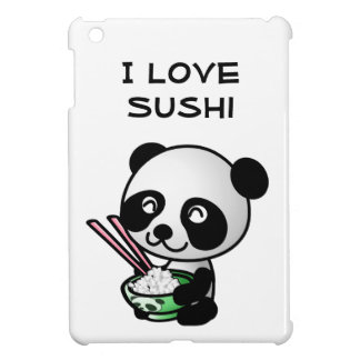 I Love Sushi Panda Bear Bowl Chopsticks Cute iPad Mini Cover