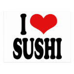 I Love Sushi Post Cards