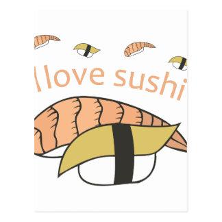 I Love Sushi Postcard