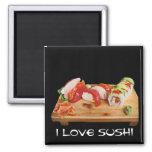 I Love Sushi Refrigerator Magnet