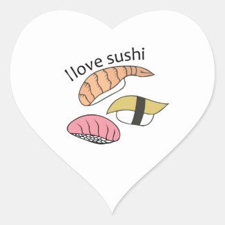 I Love Sushi Heart Sticker