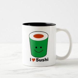 I Love Sushi Two-Tone Coffee Mug