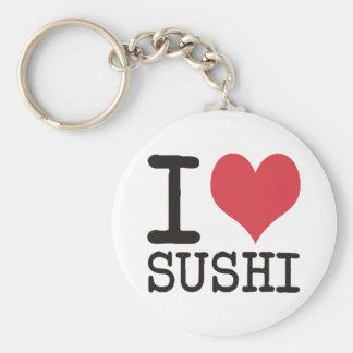 I Love Sushi - Wine - Tea Products & Designs! Keychain