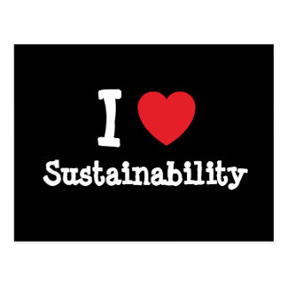 I love Sustainability heart custom personalized Postcard