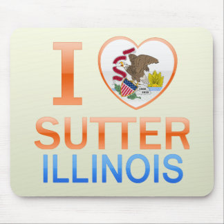 I Love Sutter, IL Mouse Pad