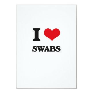 I love Swabs 5x7 Paper Invitation Card